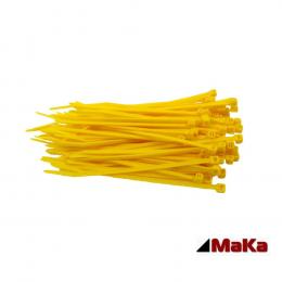 500 Kabelbinder - 200 x 3,6 mm INDUSTRIEQUALITÄT Standard (Gelb)