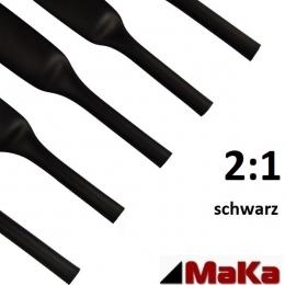 2 Meter Schrumpfschlauch schwarz 2:1 UL-Zulassung Ø 50,8 mm