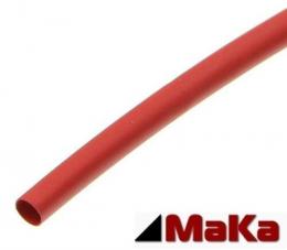 5 Meter Schrumpfschlauch rot 3:1  mit Kleber  Ø 6,4 mm